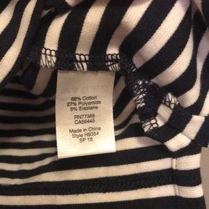 J. Crew Factory Dresses - J. crew Dress Navy Stripe Lace Up Front Shift XS